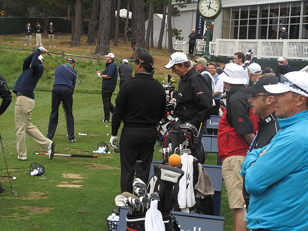 The range at Pebble Beach Golf Links was buzzing on Monday as players prepared for the season's second major, the 2010 U.S. Open.
