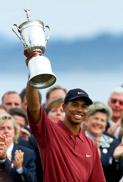 Pebble Beach Golf Links, Pebble Beach, California                       Tournaments Won: AT&T National Pro-Am (2000), U.S. Open (2000)                       Total Winnings at Course: $1,520,000*                       *Total of Tiger's winning purses at course, does not include money collected for finishes other than wins