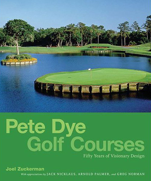 Pete Dye Golf Courses: Fifty Years of Visionary Design                           amazon.com, $50                           Dye's courses will make your jaw drop in wonder even as you're pulling out your hair in frustration. This 304-page book is a tribute to Pete Dye, the recent Hall of Fame inductee who created famous courses like TPC Sawgrass, PGA West, Teeth of the Dog and Blackwolf Run. The book features gorgeous photos as well as introductions by Jack Nicklaus, Arnold Palmer and Greg Norman.                                                       • Top 10 golf books of 2008