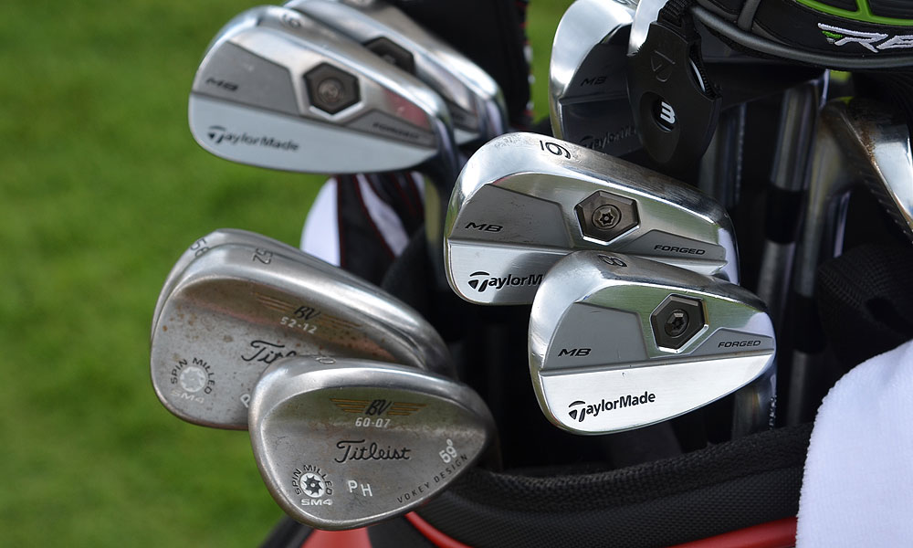 These are the TaylorMade Tour Preferred Forged MB irons and Titleist Vokey Design SM4 wedges that Peter Hanson used to finish tied for third at the Masters last month.
