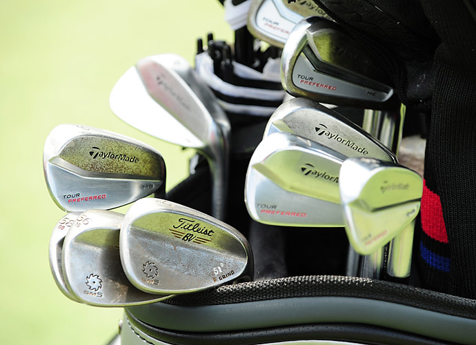 Peter Hanson matches TaylorMade Tour Preferred MB irons with Titleist Vokey SM5 wedges.