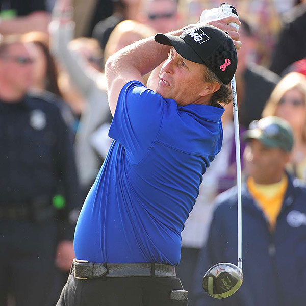 Phil Mickelson                       Masters Champion: 2010, 2006, 2004                       Driver: Callaway RAZR Hawk Tour (9.5°) with a Mitsubishi Fubuki A70 shaft