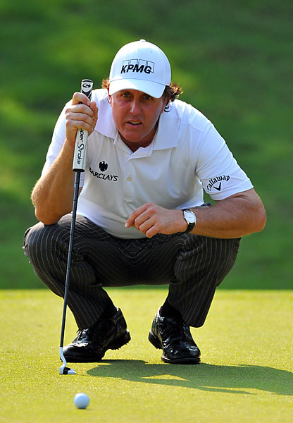 Phil Mickelson shot a 74 on Sunday to finish at 5-under for the tournament, tied for 19th place.