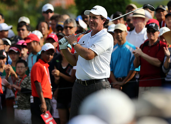 """Mickelson was harsh in his assessment of his opening round 71 on Thursday: """"I can't remember swinging this bad in a long time,"""" he said. """"I'm doing everything wrong."""""""