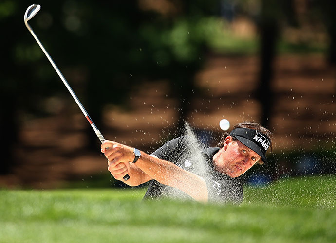 It was a rough day for Phil Mickelson. He entered the final round just two strokes back of Holmes, but three bogeys and a double bogey dropped him back to T11 at 7-under.