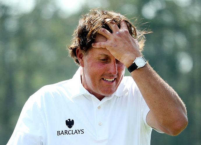 After a second-round 73, Phil Mickelson missed the Masters cut for the first time since 1997.