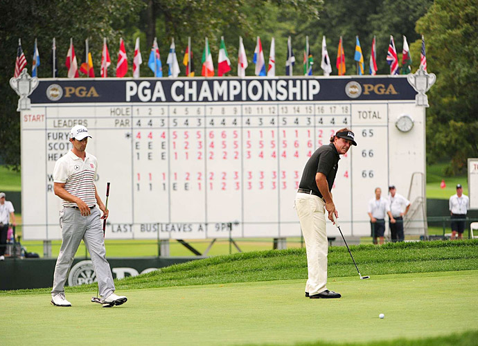 Mickelson struggled at the PGA Championship in August, finishing T72 at 12 over.
