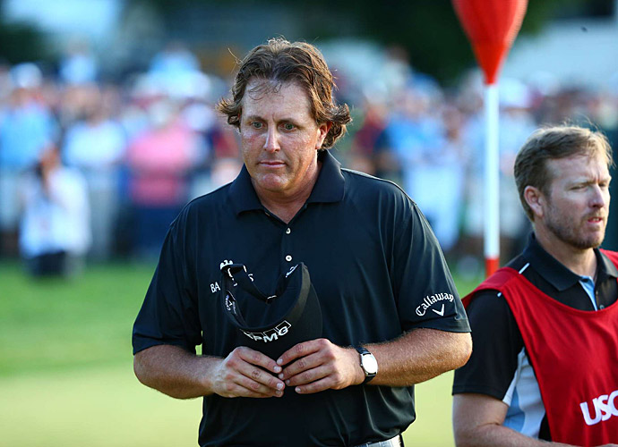 At the U.S. Open at Merion, Mickelson led after the first, second and third rounds. Unfortunately for Phil, he shot a 74 on Sunday to earn his record sixth runner-up finish at the U.S. Open, coming two shots short of winner Justin Rose.