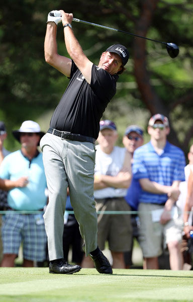 Phil Mickelson carded a 70 in the second round.