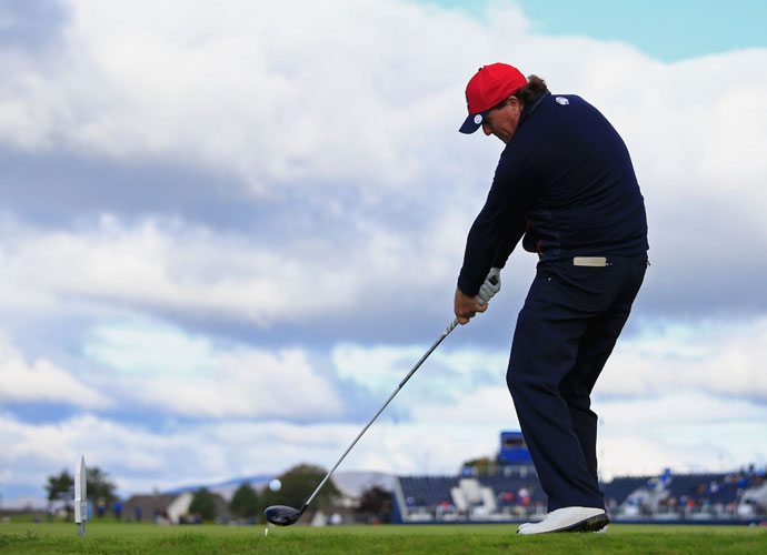 Keegan Bradley said Wednesday that Mickelson has been playing extremely well in practice leading up to the Ryder Cup.