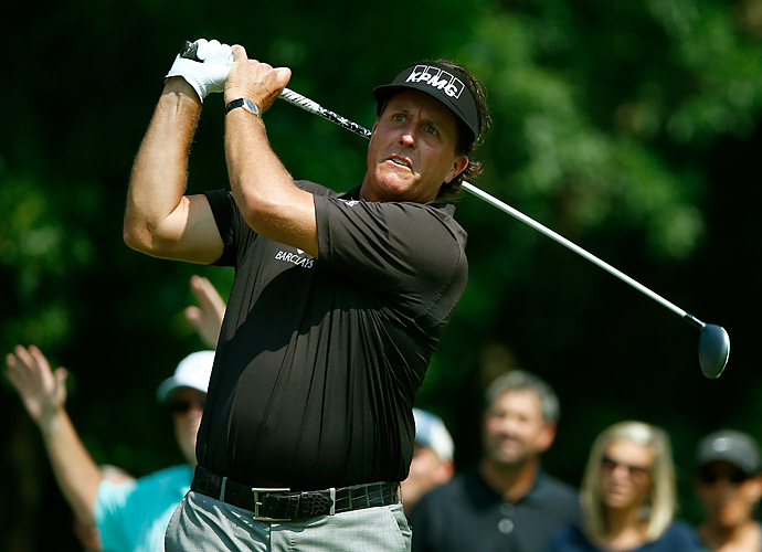 Phil Mickelson had an up-and-down round, finishing at one over.