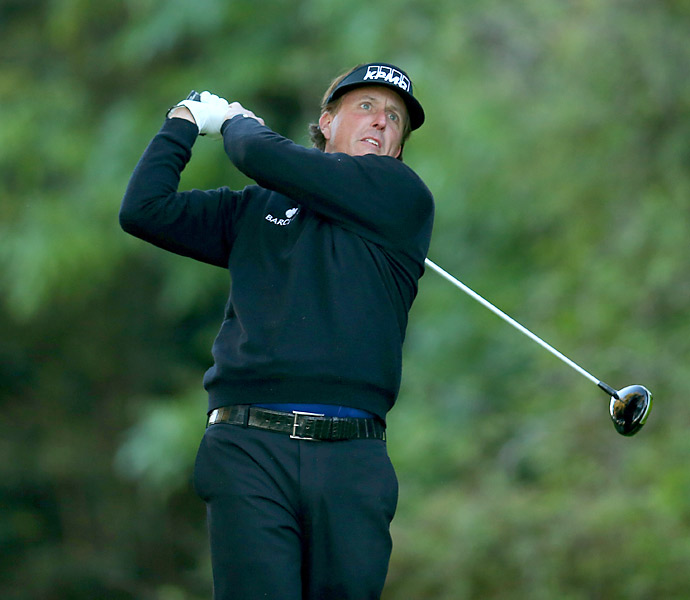 Phil Mickelson fired an even-par 71.