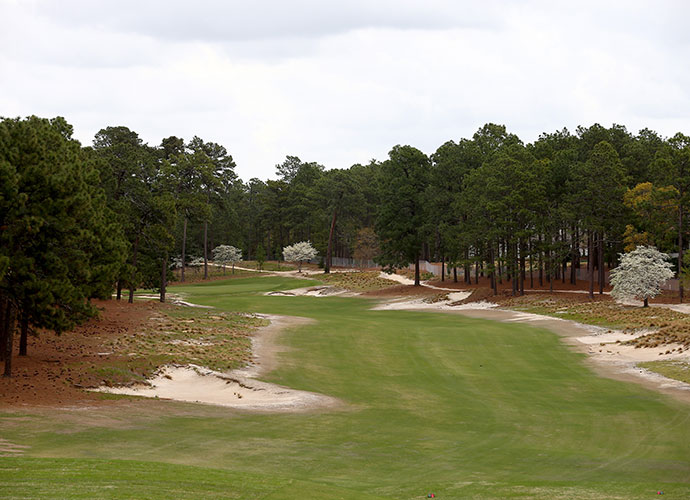 "1. Pinehurst (No. 2), Pinehurst, N.C. (resort): Ross' chef d'oeuvre rolls gently and spaciously through tall pines in the Carolina Sandhills but its ""inverted saucer"" greens have confounded the game's very best since they were first grassed in 1935."