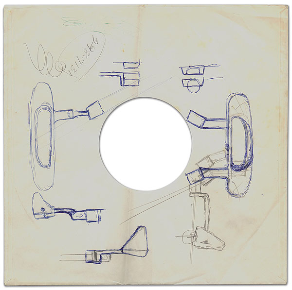 When Solheim came up with his original idea for the putter that would become the Anser, the only piece of paper he could find was this 78-rpm record sleeve.