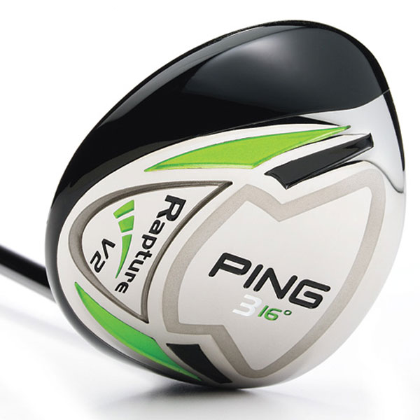 "$249, graphite                           pinggolf.com                                                      It's for: All skill levels                                                      Marty Jertson, senior design engineer:                           ""We applied the results of a rigorous R&D project where we                           studied the effects of loft and CG location on trajectory. In our                           final design, we've increased loft for each wood by 2 degrees                           over the previous Rapture, and added a 4-wood.""                                                      How it works: The stainless steel head has a 61-gram tungsten                           plate (gray outline) that accounts for one-third of the club's total                           weight. This piece helps to shift mass lower and more rearward.                           Company testing reveals that shots launch 11 percent higher                           with 9 percent less spin than the original Rapture. The large,                           shallow face further contributes to higher trajectory. A                           machined face is plasma-welded to the steel body to                           increase ball speed (and distance) on off-center hits.                           The clubhead is 26 percent smaller than the original                           Rapture yet 17 percent larger than in the G10.                           Comes in 3 (16°), 4 (17.5°), 5 (19°) and 7 (22°)."