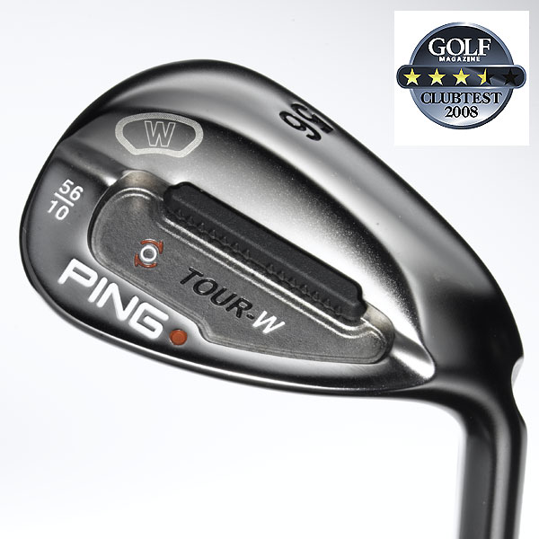 "Ping Tour-W (Black Nickel)                            $109, steel                            pinggolf.com                                                       We tested: 52°/12° (loft/bounce), 54°/10°, 56°/10°, 58°/8°, 60°/8° in Ping AWT steel shaft                                                       Company line: ""The small, teardrop-shaped head has high inertia due to its dense, tungsten toe weight and small cavity. A deep tuning port positions the center of gravity low and farther forward to provide proper head rotation. Comes in black nickel finish.""                                                       Our Test Panel Says:                            PROS: These really seem at home in the rough— there's enough mass to power through the tough stuff without getting caught up in it; feel is similar all across the clubface; a heavy sole enhances clubhead awareness and contributes to high, straight shots; a competent wedge for Ping fans; noticeable clubhead stability; consistent distance and trajectories.                                                       CONS: Unlike some others tested, these are not dart throwers; dullish sound and feel at impact, not a satisfying click, leave you wanting more feedback.                                                       ""These are handy from uphill lies, the rough, or around the green."" — Mike Nastasi (9)                                                      Rate and Review this club"