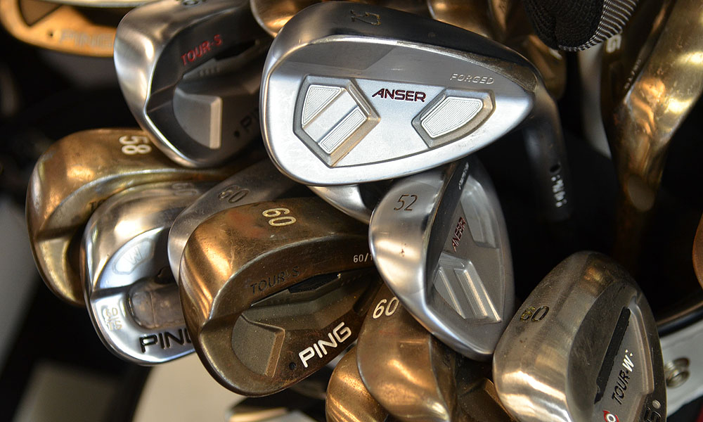 Ping Forged Anser and Tour-S Rustique wedges.