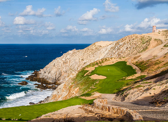 Quivira, Cabo San Lucas                                   Jack Nicklaus' brand new, edge-of-the-Pacific production opened in October and immediately established itself as one of earth's most spectacular tracks. The cliff-top holes that straddle rock-encrusted dune ridges will leave you dizzy -- and that's just from the cart ride.