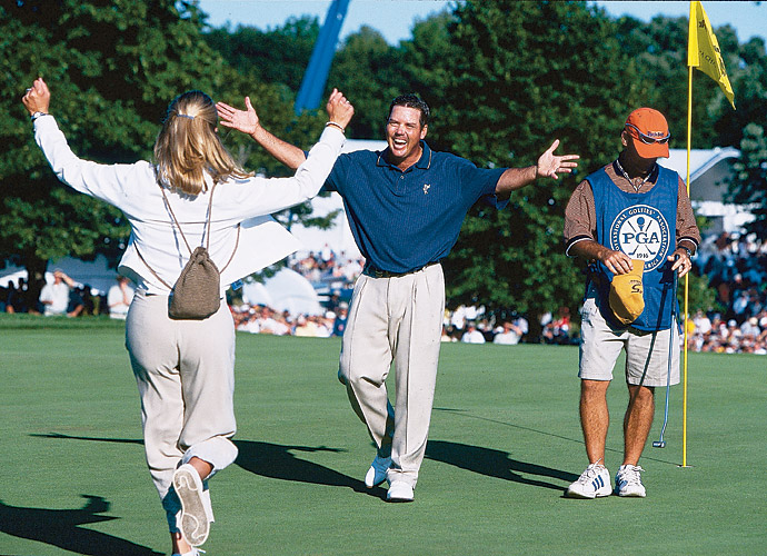 Rich Beem won his only major title by topping Tiger Woods by one at the 2002 PGA Championship at Hazeltine.