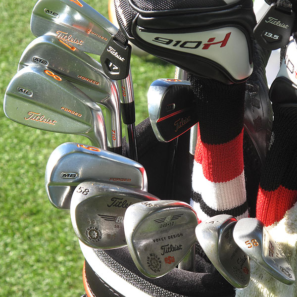 Rickie Fowler had plenty of custom work done to his Titleist Forged 710 MB irons.