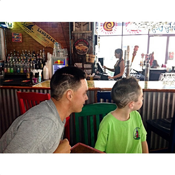 @therealrickiefowler A little lunch with my buddy Parker #USA ya we have the same barber @youarenextbarbershop