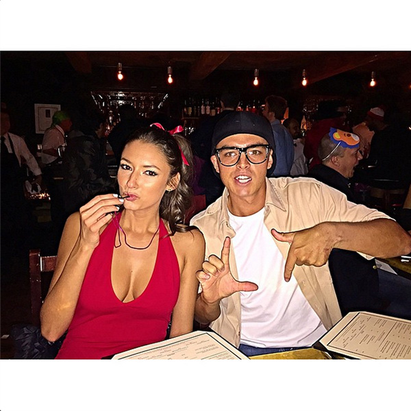 @therealrickiefowler L 7 Weenie with my girl @alexis.randock #WendyPeffercon #Squints #YaYa #Sandlot #HappyHalloween