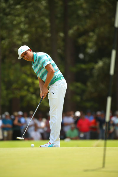 """Rickie Fowler made only two bogies in his third round. He's been working with Butch Harmon.  """"(My swing) is definitely a lot more mature,"""" he said. """"I'm hitting it harder. I'm older. I'm definitely more in control of my golf swing and more in control of the golf ball, and unfortunately my results haven't showed it this year."""""""