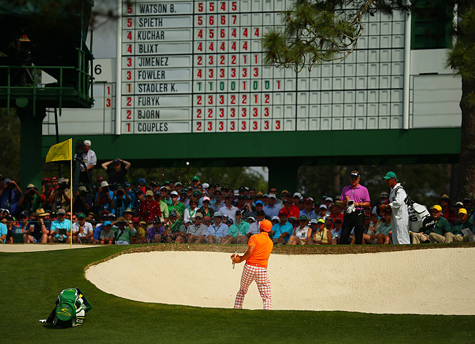 Rickie Fowler made a run at the lead early on Sunday