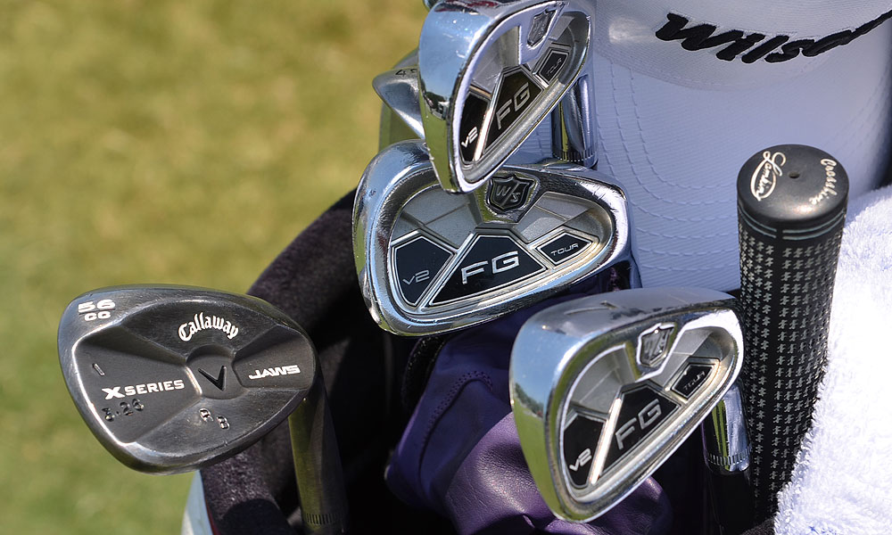 Ricky Barnes uses Wilson FG Tour V2 irons and Callaway X Series JAWS wedges.