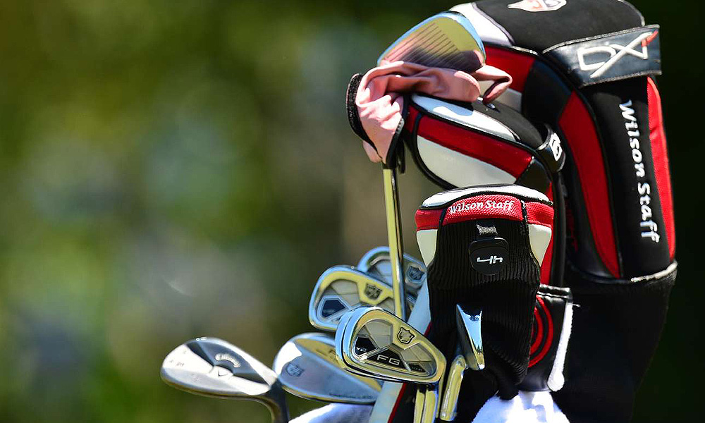 Ricky Barnes used these Wilson FG Tour V2 irons and a Callaway X Series JAWS lob wedge to shoot 64 in the opening round.