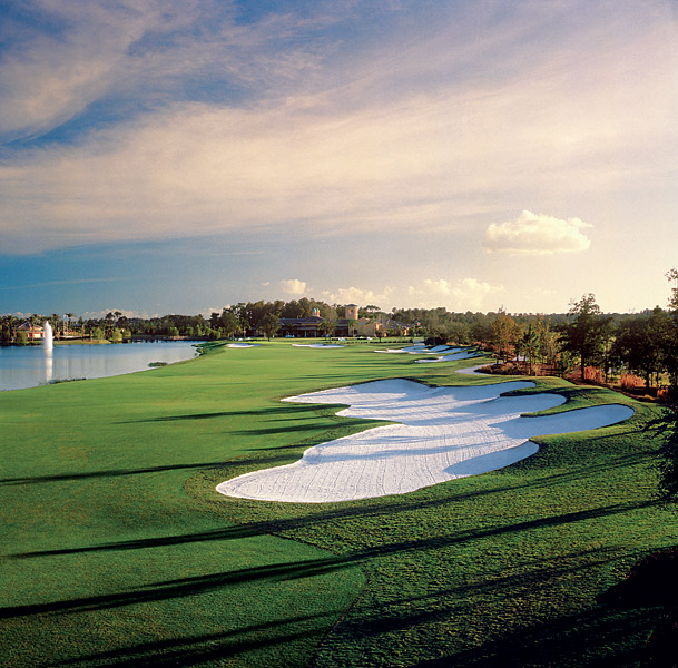 13. Ritz-Carlton Golf Club in Grande Lakes, Orlando, Fla.: Tiger Woods once called the greens at this low-key Norman creation some of the best he's ever putted. Once you've experienced them, it's hard to argue. With wide corridors (read: resort-friendly) and flat terrain throughout, Grande Lakes won't knock you over with drama, but its thoughtful finesse holes and pure tranquility make it distinctive.