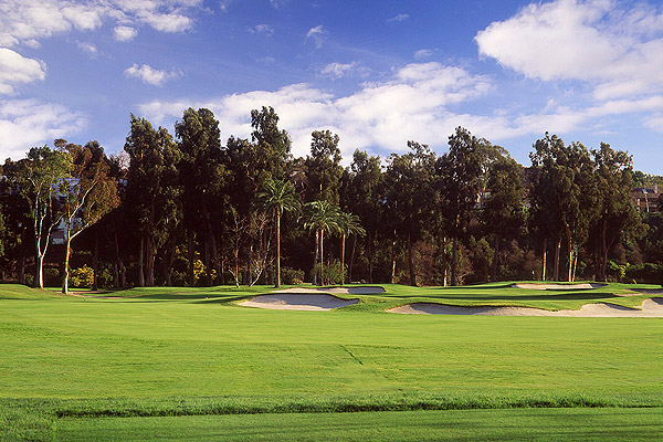 Hole No. 17                       Riviera                       Pacific Palisades, California                       10th hole; par 4, 315 yards                                              The beauty in this remarkable hole is that mere hackers can make birdie and the game's greatest can make bogies and doubles in a heartbeat. Jack Nicklaus said Riviera's 10th presents more options than any short hole in the world. It requires discipline to approach the green from the proper angle: that means laying-up off the tee to the far left side of the fairway. But when the pin is on the left, unprotected by the fronting bunker, the temptation is to go straight at it. But that open portion of the green slopes off the back. No matter how you approach the hole, it's an exquisite test of nerve.