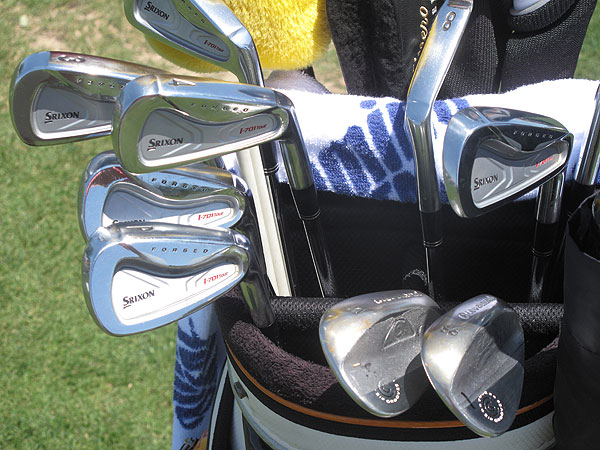 Allenby is still playing Srixon's I-701 irons, along with Cleveland wedges.