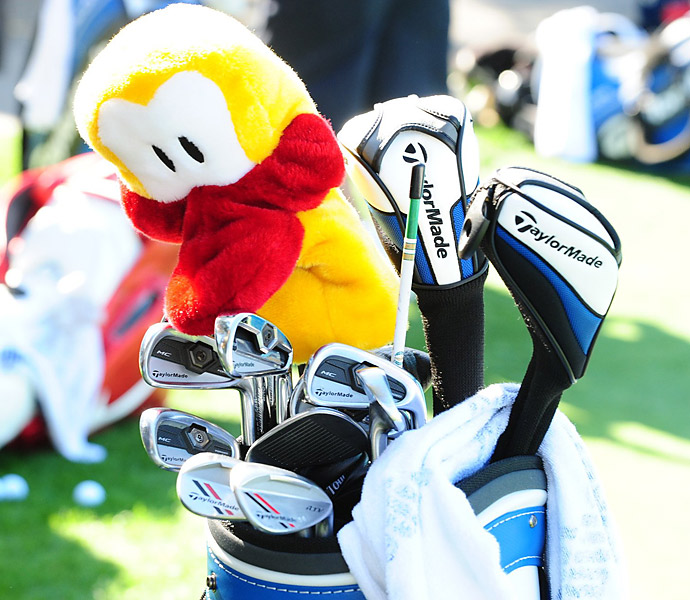 Robert Allenby matches a unique headcover with TaylorMade Tour Preferred MC irons and TaylorMade ATV wedges.