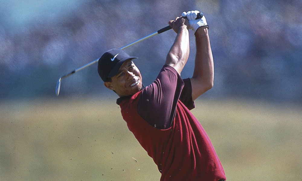 "Tiger Woods, 2000 British Open: 8 shots                           Fresh off his record-setting performance at the 2000 U.S. Open, Woods won the Open Championship at St. Andrews by eight shots. The win was the second leg of Woods's ""Tiger Slam,"" in which he held all four major titles at once.  Read More..."
