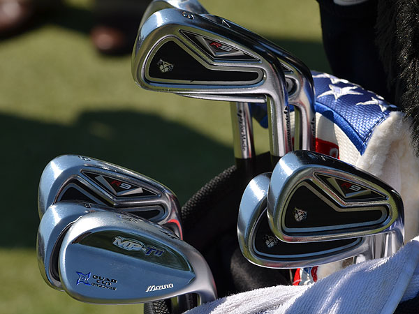 Robert Garrigus plays TaylorMade R9 TP irons and Mizuno's new  MP-T11 sand wedge.
