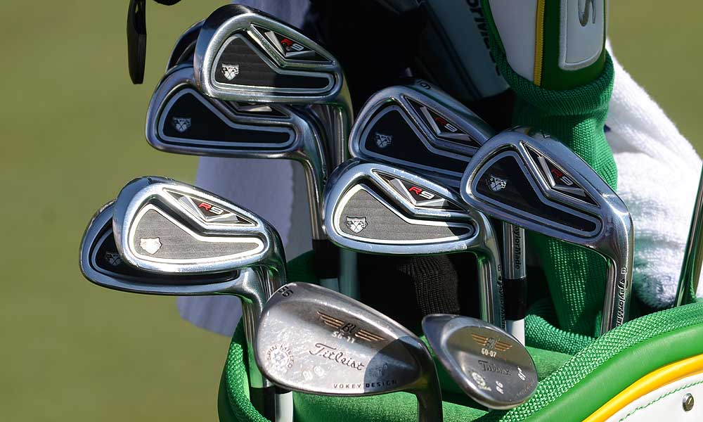 Robert Garrigus uses TaylorMade R9 TP irons and Titleist Vokey Design Spin Milled wedges.