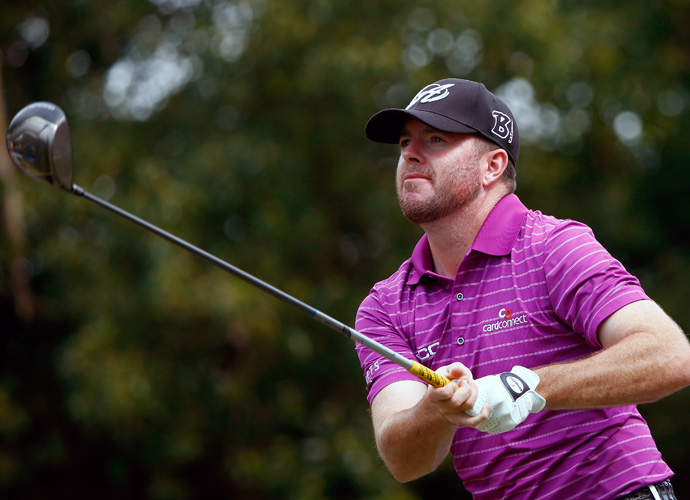 Robert Garrigus tore up the back nine with a birdie or better on five of his last six holes en route a 8-under 64, the low round of the day, and a T5 finish at 14-under.