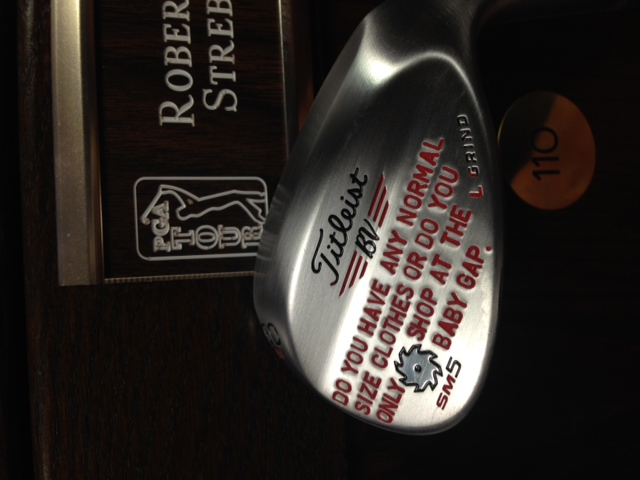"""Robert Streb plays Vokey wedges and is apparently a big fan of the movie """"Superbad."""""""