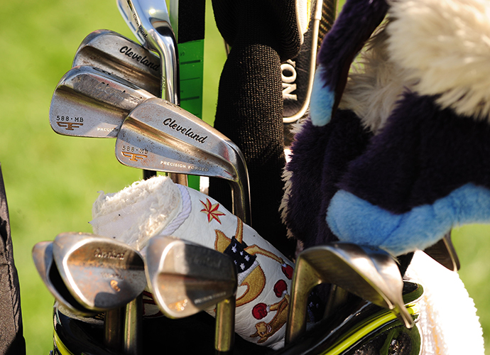 Rod Pampling has his Cleveland irons with him at Bay Hill, his third PGA Tour tournament of 2014.