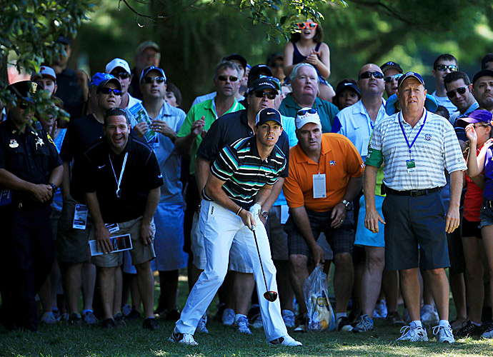 Rory McIlroy gained a lot of ground on the leaders with a three-under 67.