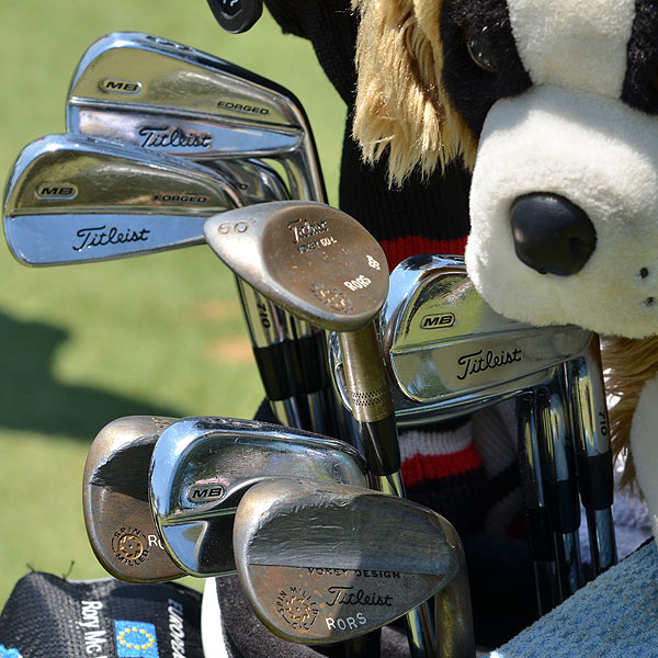 Rory McIlroy has used this set of Titleist 710 MB irons and Titltiest Vokey Design Spin Milled wedges to bring Congressional Country Club to its knees.