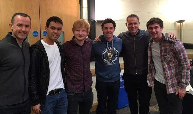 @McIlroyRory Thanks for having us tonight @edsheeran! Can't wait to watch the performance later!