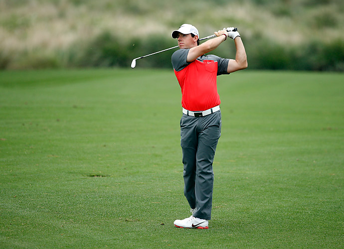 Rory McIlroy opened the Shell Houston Open with a two-under 70.