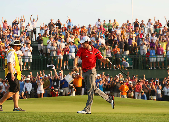 10. Rory McIlroy, 2012                                 The young Ulsterman validated his 2011 U.S. Open win with a four-win PGA Tour campaign, with one major. That particular major deserves special mention -- a record eight-shot beatdown at the PGA at Kiawah Island's Ocean Course. McIlroy gobbled up two FedEx Cup playoff wins, won the U.S. money title, then wrapped up the European Tour's money crown as well. Phenomenal golf on both sides of the Atlantic.