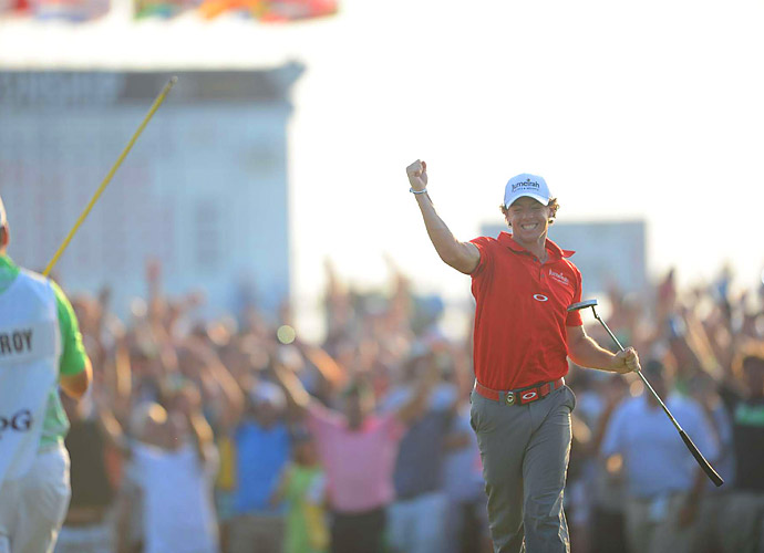 Rory McIlroy blitzed the field at the 2012 PGA at Kiawah Island's Ocean Course, winning by a tournament-record eight strokes.