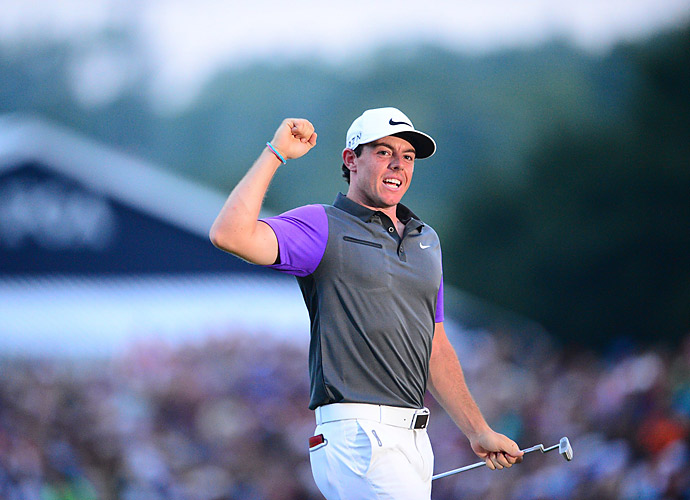 8.	Rory McIlroy, 2014                           With still a little time to add to his legacy, McIlroy began his comeback late in 2013, winning the Australian Open over Adam Scott. After a few close calls, he didn't hit his stride until he called off his wedding in May, then won the BWM at Wentworth that week. The Open, the WGC-Bridgestone and the PGA Championship went his way, and he didn't rest, contending in every FedEx Cup playoff event.
