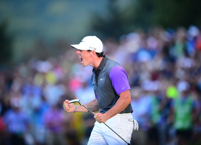 McIlroy followed up his British Open triumph by winning the Bridgestone Invitational and then made it three in a row with his win in the gloaming at the PGA Championship. McIlroy edged Phil Mickelson by a shot at Valhalla, the fourth major title for the 25-year-old.