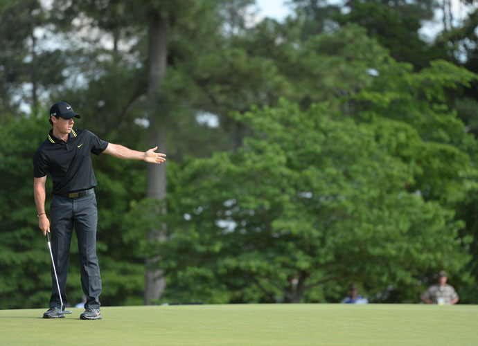 """""""I missed it in the wrong place most of the time on the front nine,"""" Rory said after his round. """"And that is sort of what led to shooting 40 (on the front)."""""""