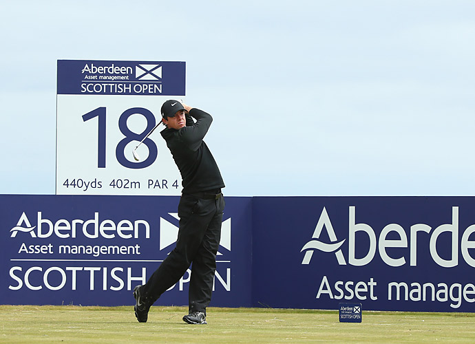 THURSDAY                           Rory McIlroy got off to a quick start at the 2014 Scottish Open, shooting a seven-under 64 to take a one-shot lead.